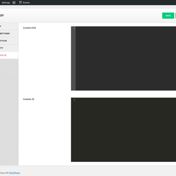 Custom CSS & JS